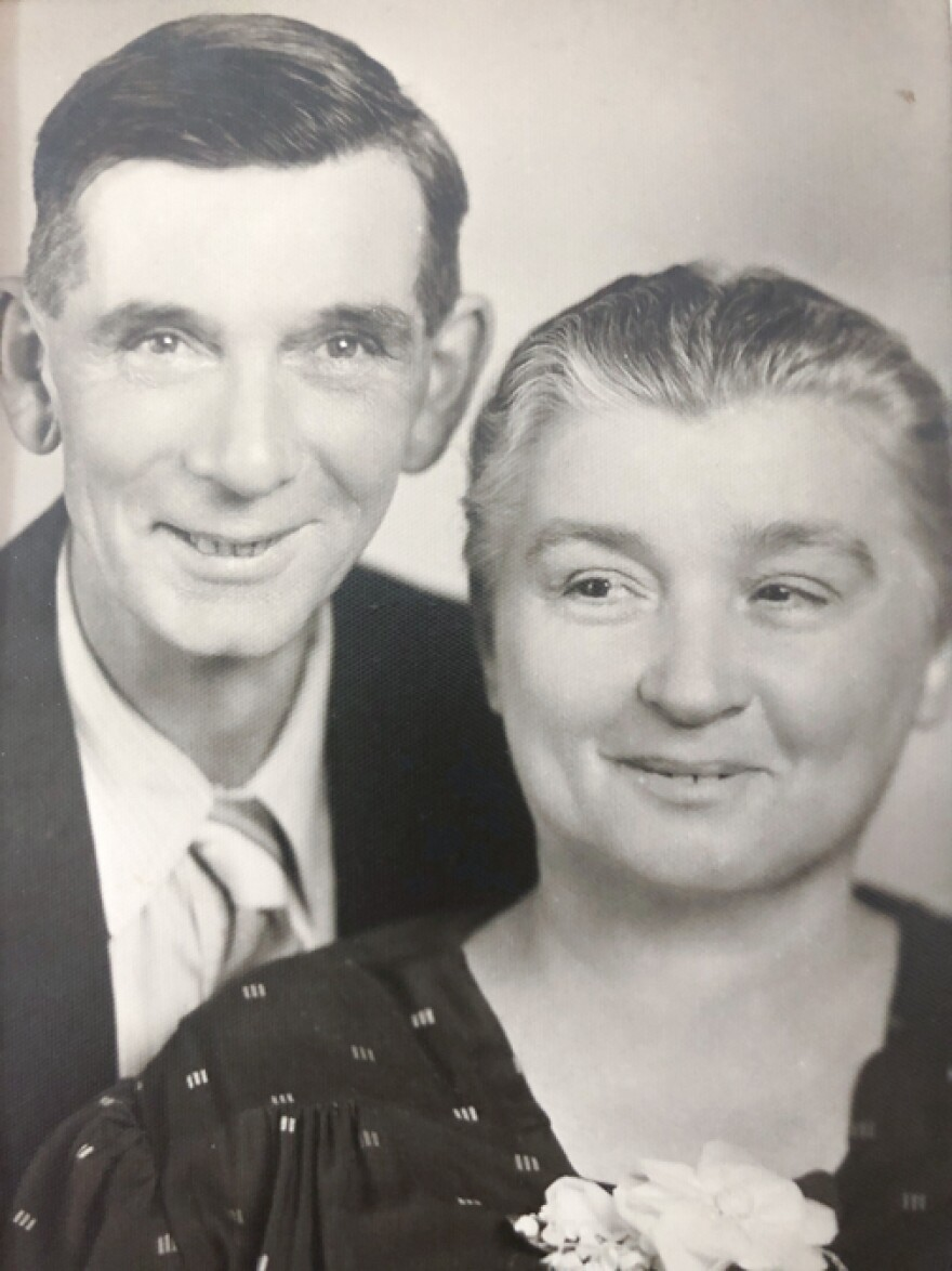 Blanche Reeves and her husband, Ralph Reeves, pictured in 1944.