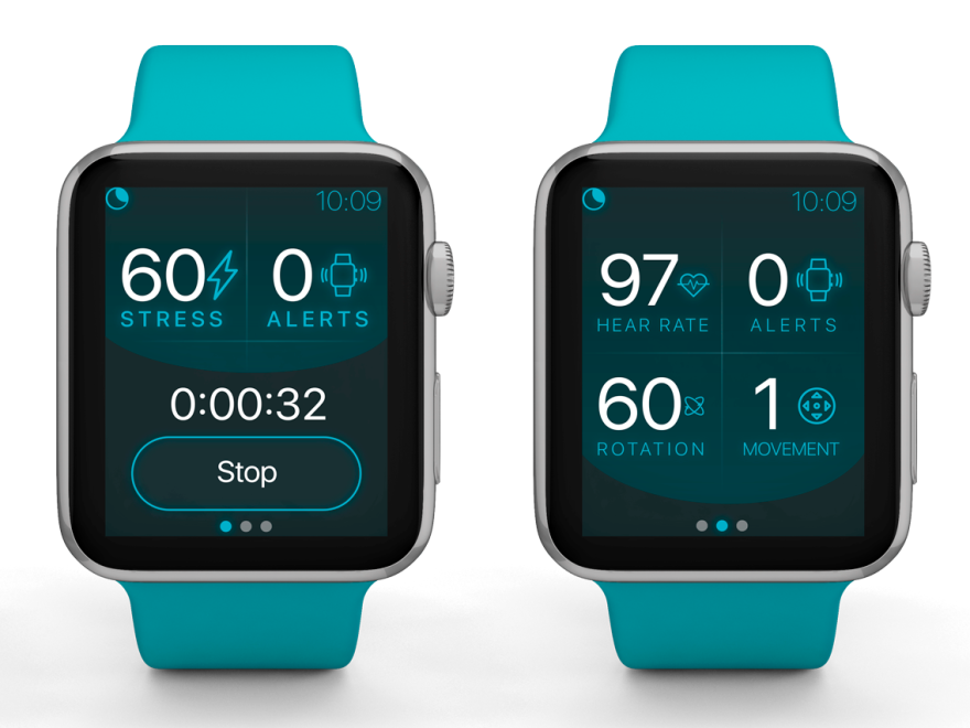 The app works with an Apple Watch, to treat PTSD-related nightmare disorders.