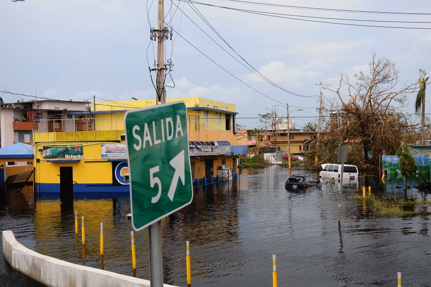 This image from Carolina, Puerto Rico was taken the day after Hurricane Maria hit the island.