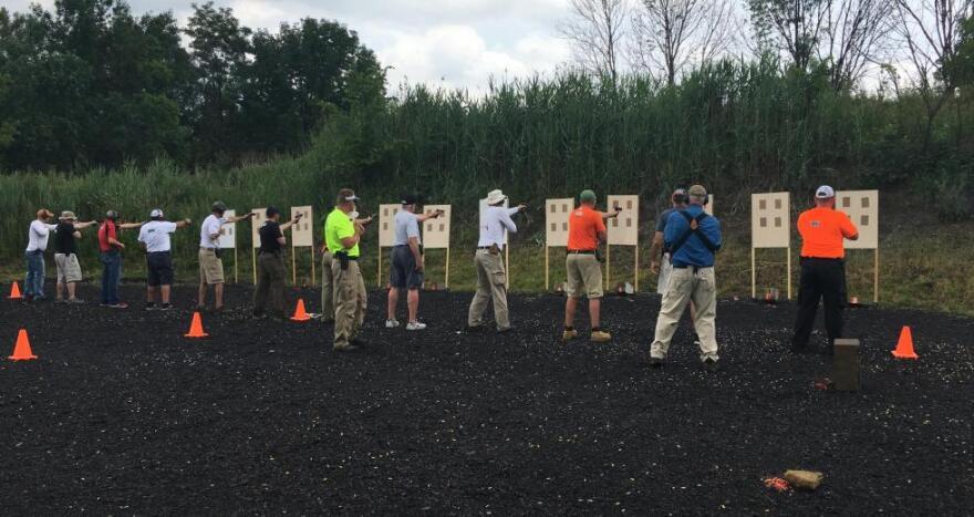 Educators FASTER training target practice ideastream guns teachers schools conceal carry concealed NRA firearms ALICE (Alert, Lockdown, Inform, Counter, Evacuate