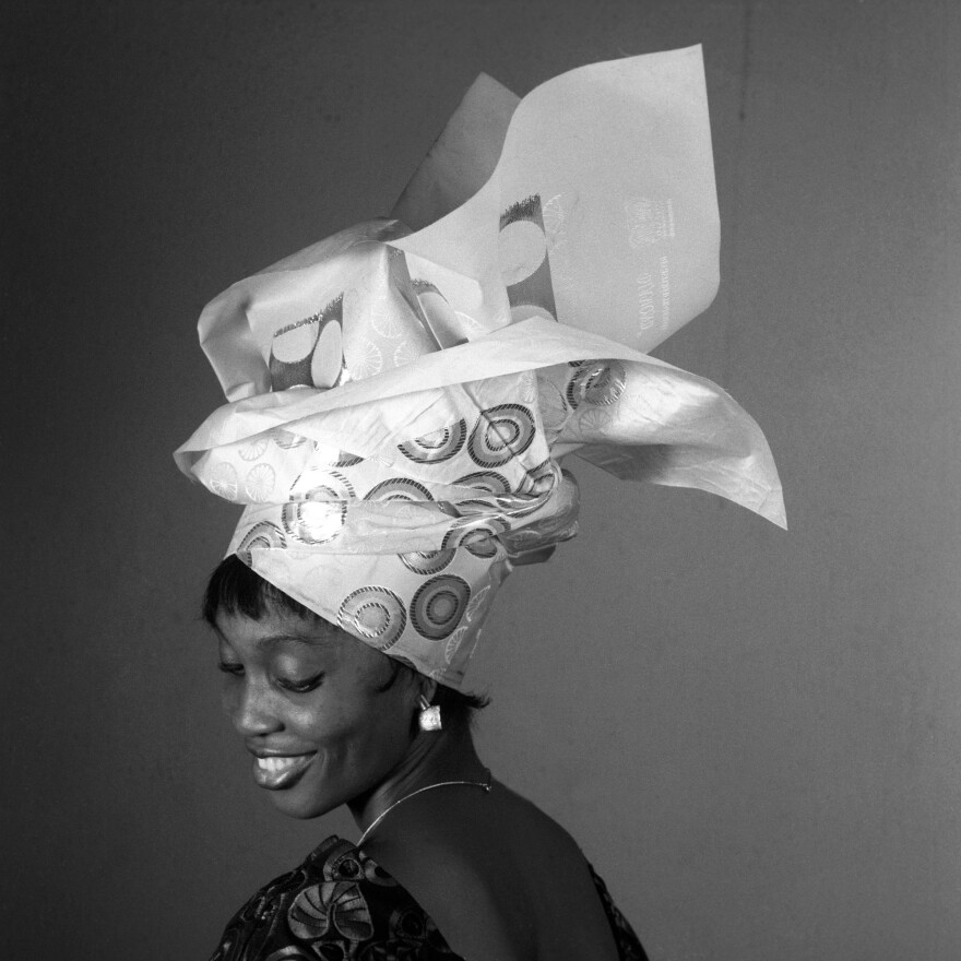 One in a series of photos depicting the elaborate headgear of Nigeria.