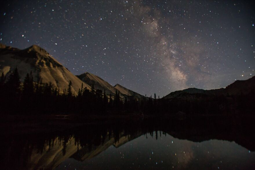 The backcountry of the White Cloud and Sawtooth mountains provide dramatic views of the Milky Way and the night sky.