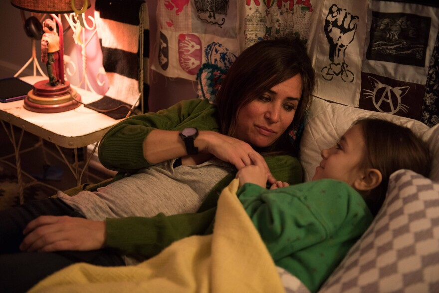 Some of the scenes in<em> Better Things </em>were inspired by experiences Adlon had with her own daughters. Adlon is pictured above with Olivia Edward, who plays Duke.