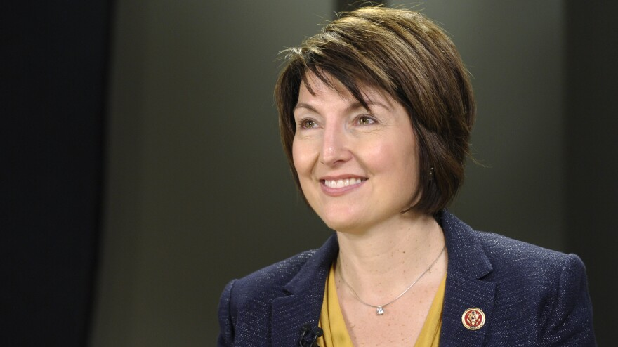 Rep. Cathy McMorris Rodgers, R-Wash., rehearses the GOP response to the State of the Union on Capitol Hill. She delivered it Tuesday following the president's speech.
