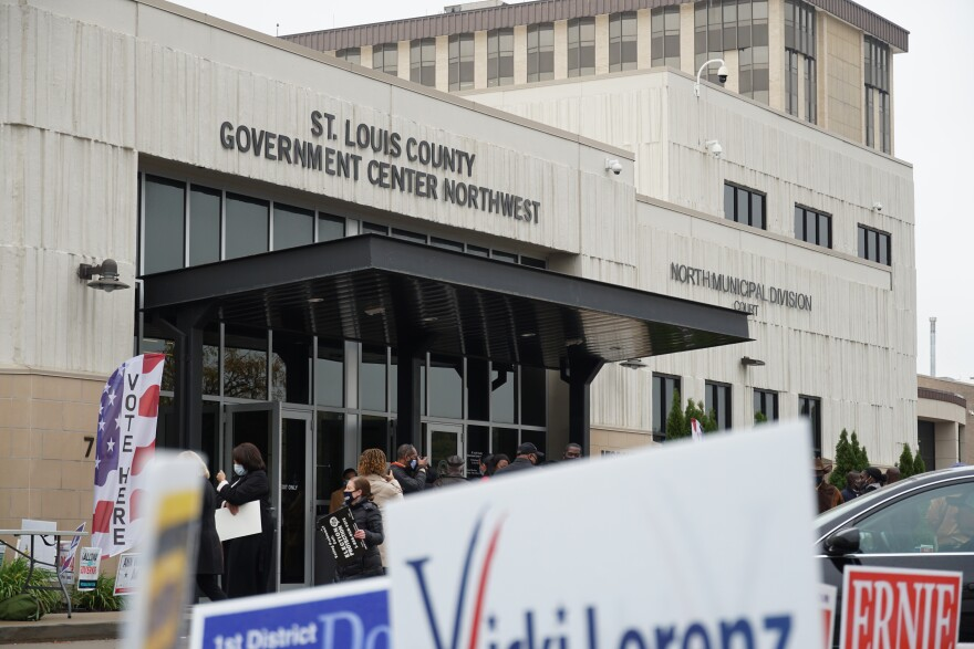 St. Louis County Board of Elections is the only voting location in the county where voters can cast an absentee ballot curbside.