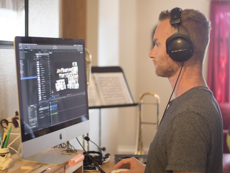 Steve Peterson in his editing suite.
