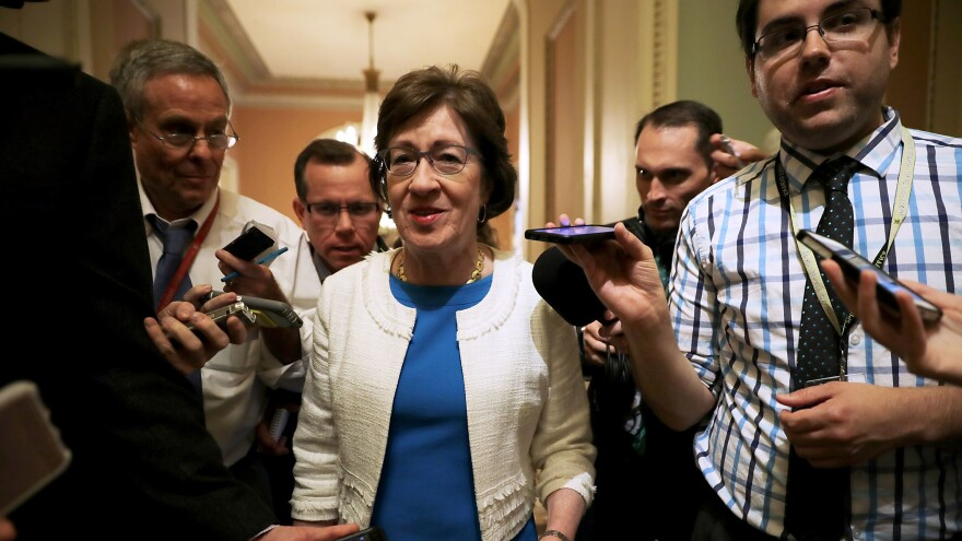 "Sen. Susan Collins, R-Maine, said Sunday morning on CNN's <em>State of the Union</em> that it's ""difficult to envision a scenario where I would end up voting for this bill."""