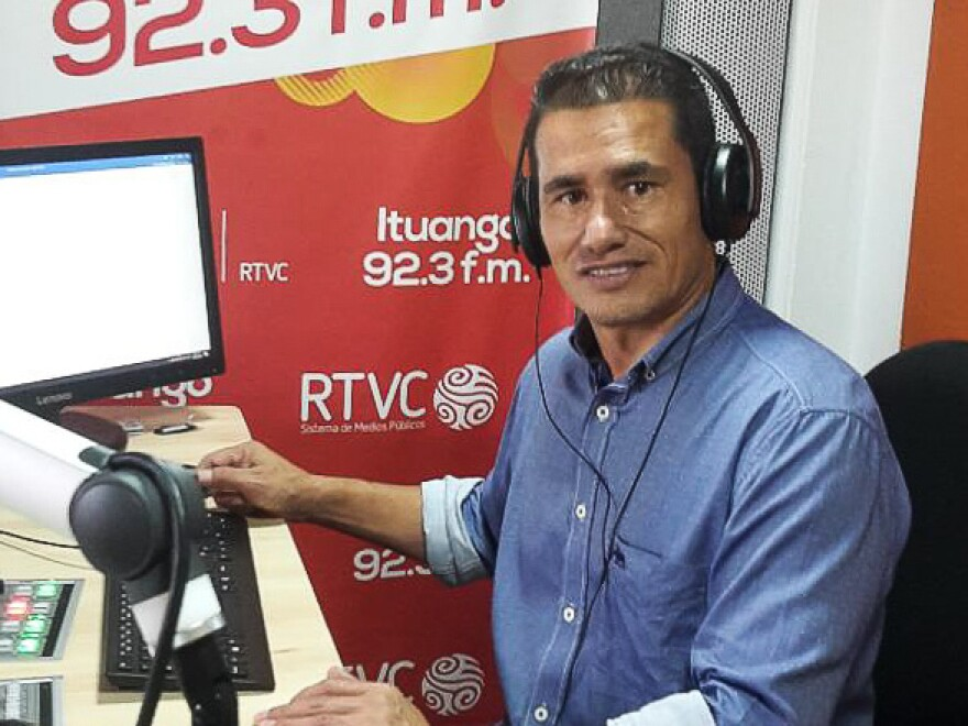 """""""We try to entertain but also to educate,"""" says station manager Wilson Cartagena. """"That's the role of public radio."""""""
