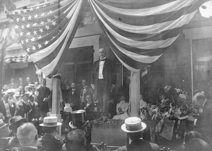 President William McKinley's front porch as it stood in Canton.
