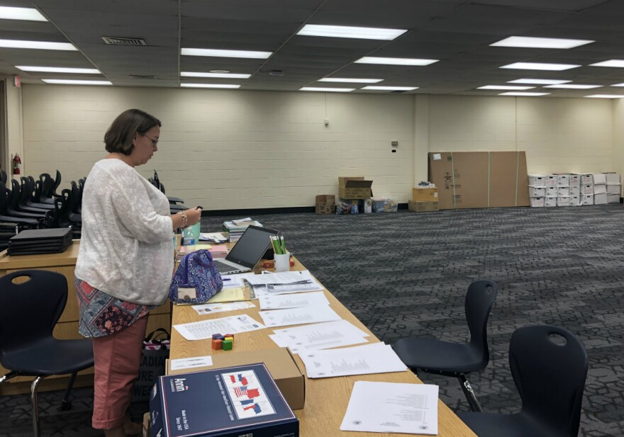 South San ISD prioritized classrooms in the rush to get Athens Elementary reopened, leaving the library to be set up after the start of the school year.
