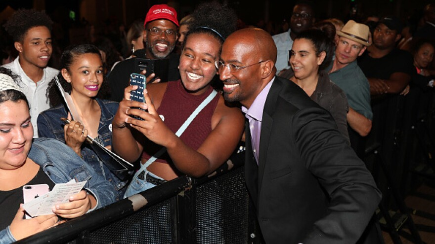 Despite his critics, Van Jones still attracts plenty of fans at tour stops like the one in Los Angeles.