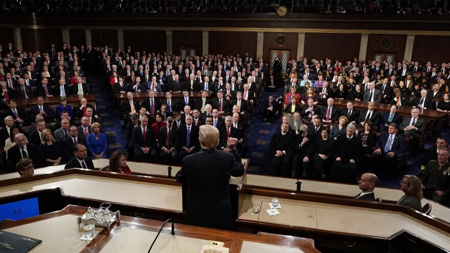 President Trump delivers his State of the Union address to a joint session of Congress on Capitol Hill last year in Washington.