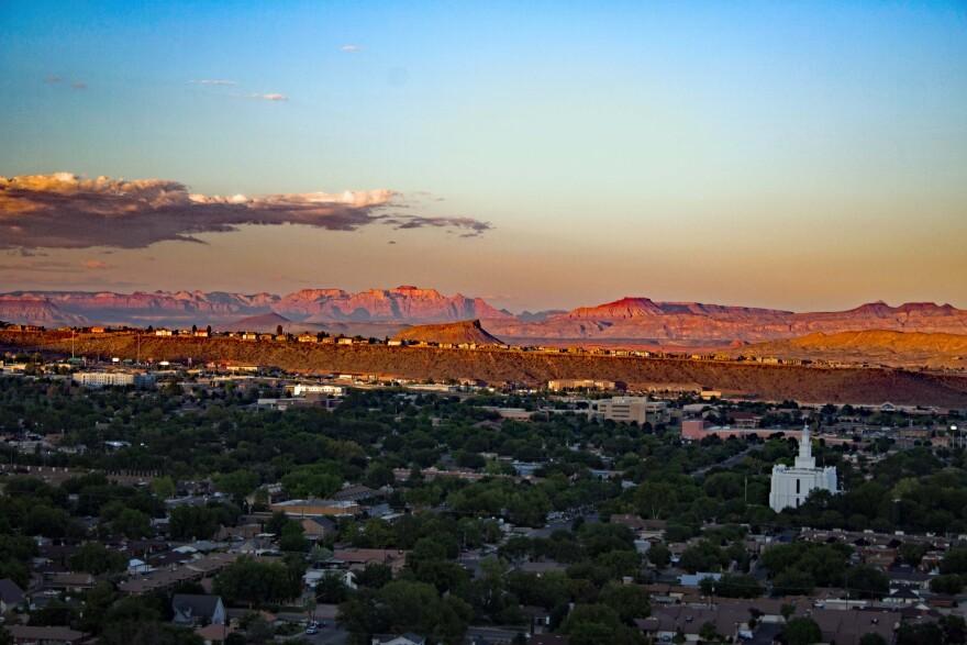 Aerial view of St. George, Utah.