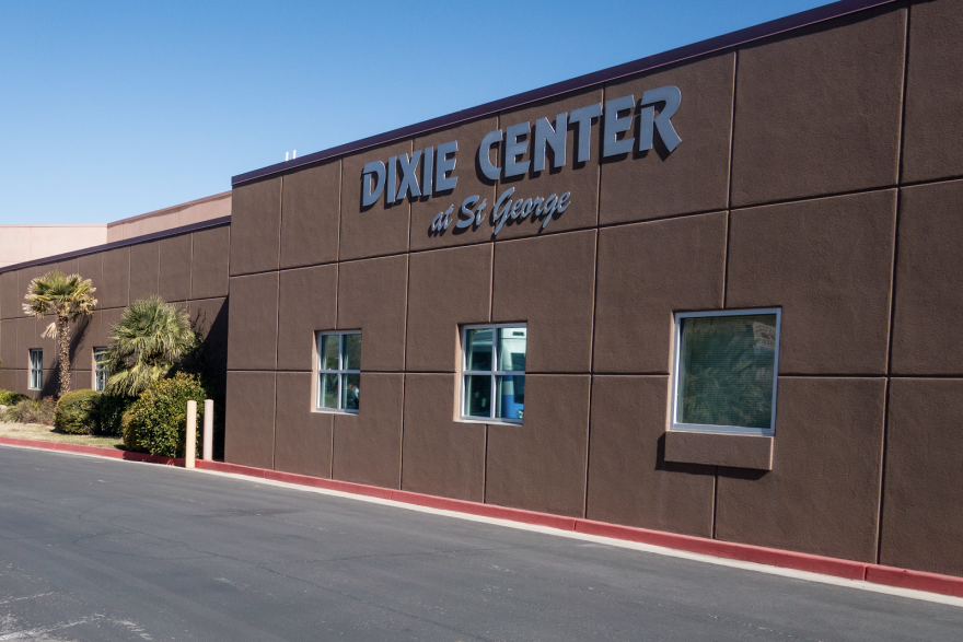 "Photo of a building that says ""Dixie Center at St. George"""