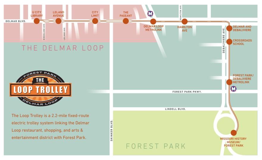 The Loop Trolley Map