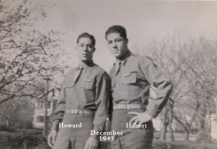 Howard and Hilbert Margol in 1943. The twin brothers were among the U.S. troops that liberated Dachau in 1945.
