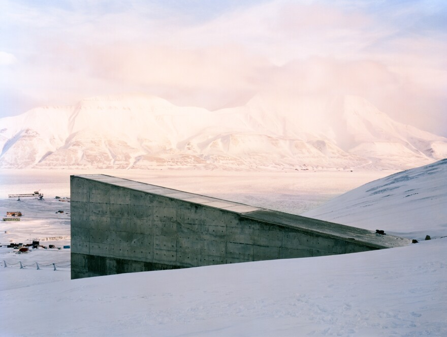 Exterior Svalbard Global Seed Vault Dornith Doherty, Svalbard Global Seed Vault, Spitsbergen Island, Norway, 2010, archival pigment print. Courtesy of the artist, Moody Gallery, Houston; and Holly Johnson Gallery, Dallas, Texas.