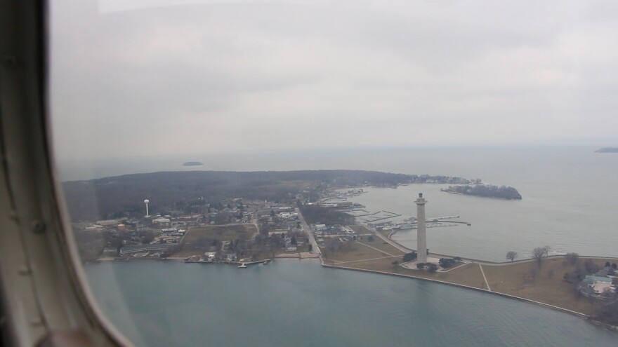 photo of South Bass Island from plane