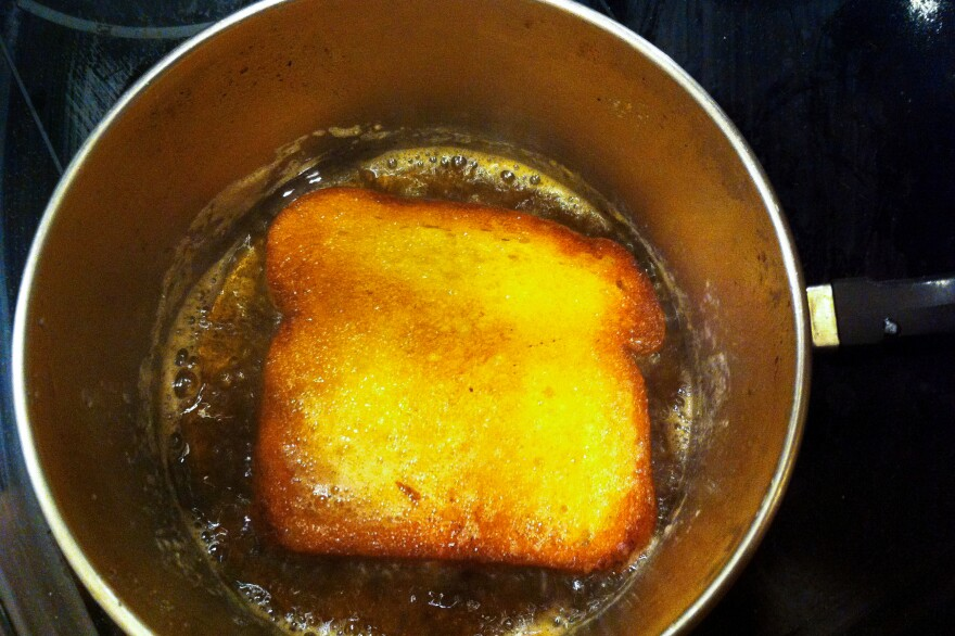 We recommend pan-frying to get as much butter as possible into a piece of toast.