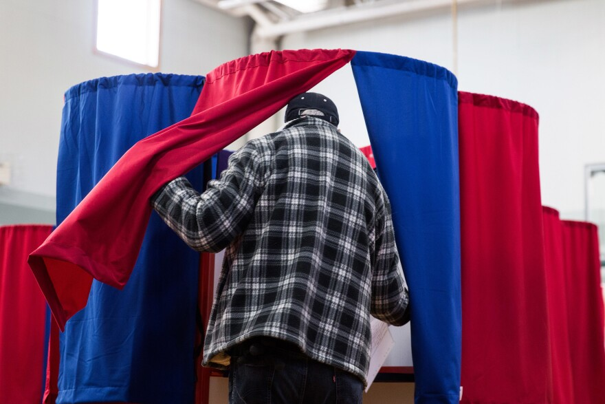 Voters went to the polls at Amherst Street Elementary School on November 8, 2016, in Nashua, N.H.