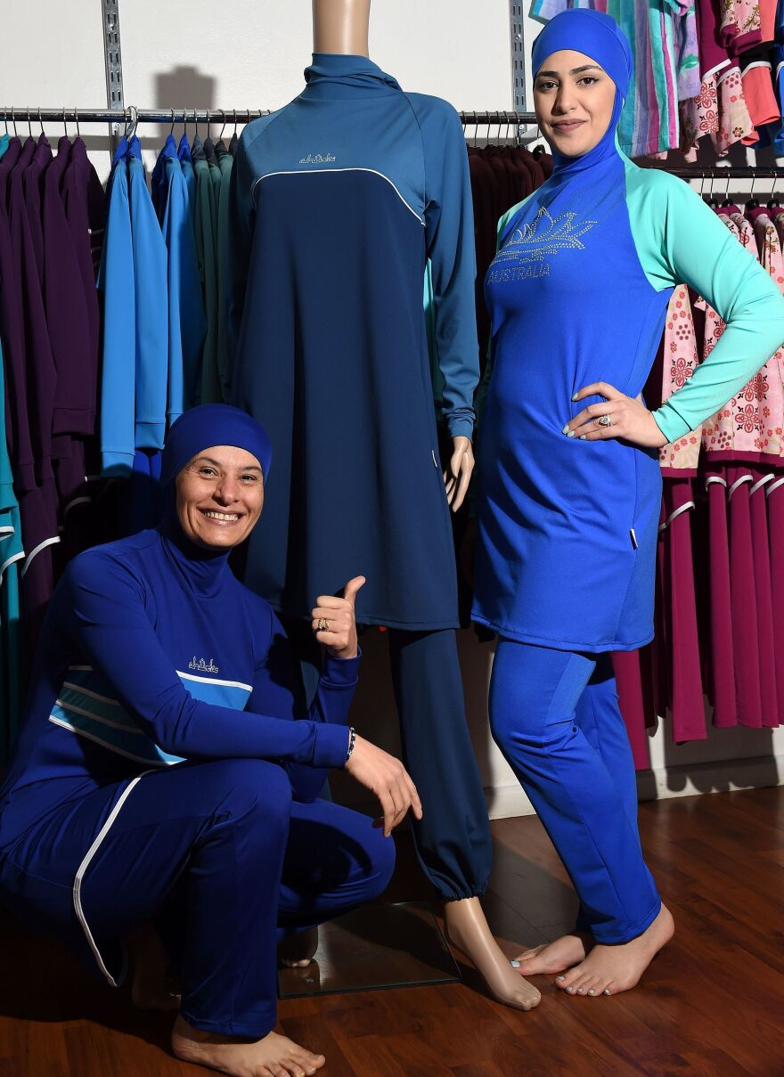 "Dozens of French cities and towns have banned the full-body swimwear. Cannes Mayor David Lisnard has called the burkini a ""symbol of Islamist extremism."""