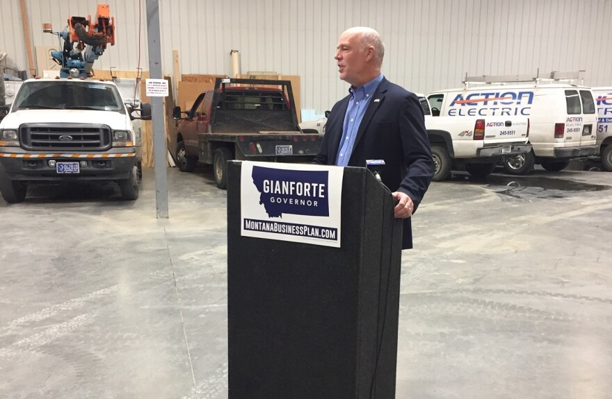Gianforte at a campaign event during his run for governor on October 11