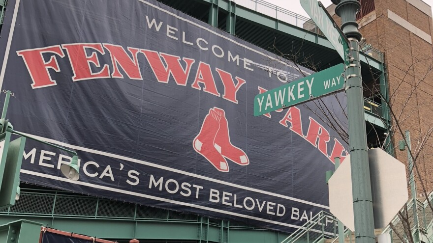 Yawkey Way, outside Fenway Park, was named for the late, former Boston Red Sox owner, Tom Yawkey, who was known for his philanthropy, but also for what was a racist ball club.