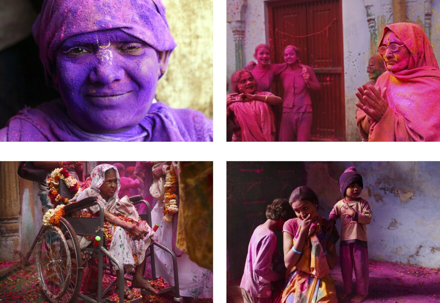 In Vrindavan, India, a group of widows break social taboos and celebrate Holi, the festival of colors.