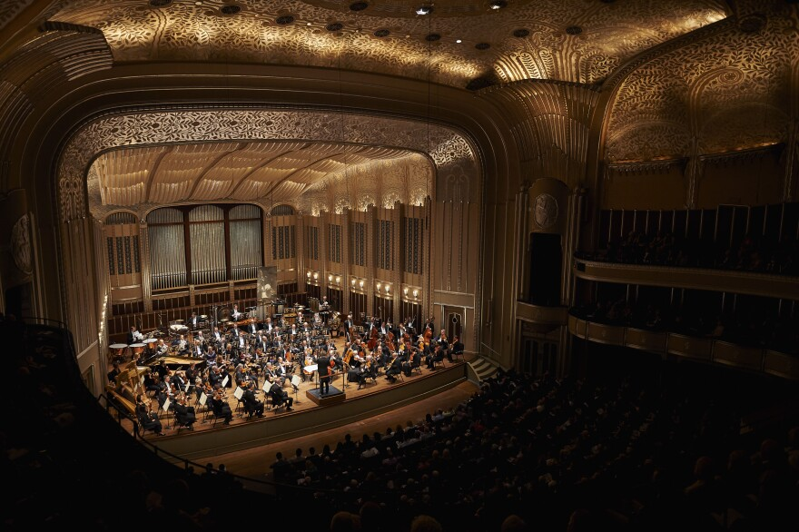 A photo of the Cleveland Orchestra