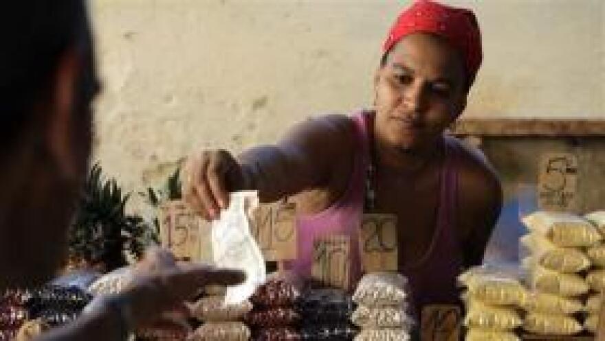 A private Cuban vendor in Havana.