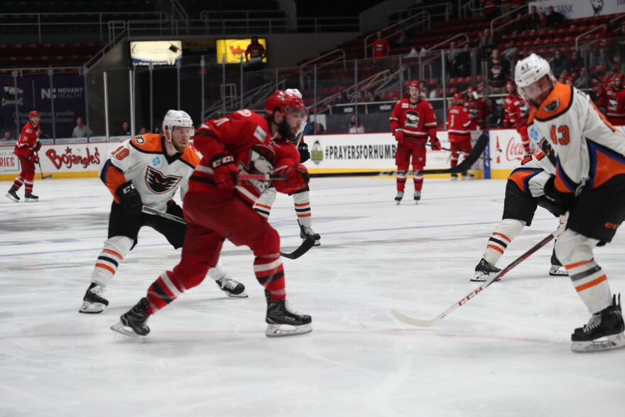 Charlotte Checkers Lose To LeHigh Valley in AHL's longest game in history.
