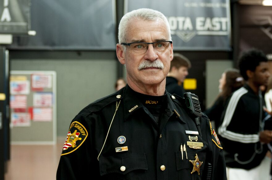 Butler County Sheriff's Deputy Doug Hale has worked as a school resource officer for 24 years in the Lakota Local School District near Cincinnati.