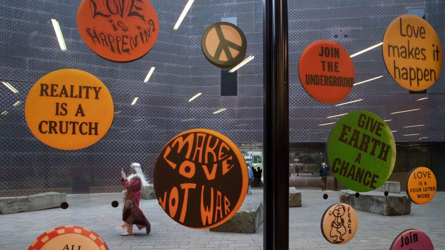 An art exhibit at the de Young Museum in San Francisco celebrates 50 years since the famed Summer of Love.