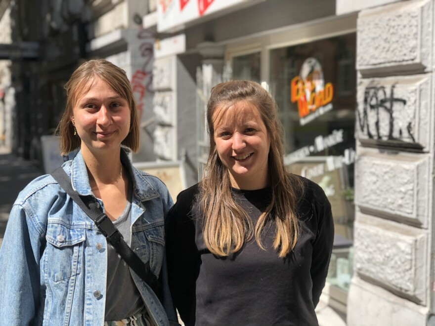 Social workers Alina Prophet and Anna Waxweiler counsel sex workers in Hamburg. They work at a center that is mostly funded by the city of Hamburg. Prophet says Germany's ban on sex work has made the workers more vulnerable.