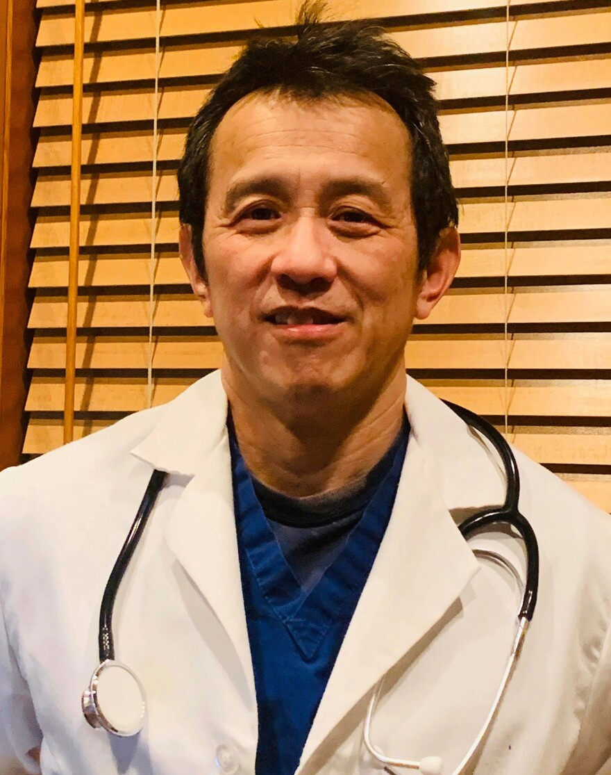 Dr. Ming Lin at his home in Bellingham, Washington, March 27, 2020. Dr. Lin was fired from his position as an emergency room physician at PeaceHealth St. Joseph Medical Center in Bellingham after publicly complaining about the hospital's COVID-19 preparations.