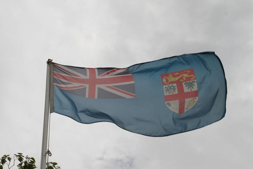 Fiji's national flag — until October.