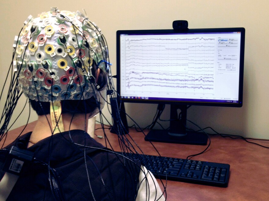 Taking an intelligence test at the University of Maryland: In one month of brain training, former NPR correspondent Barbara Bradley Hagerty vastly increased her scores in intelligence tests.