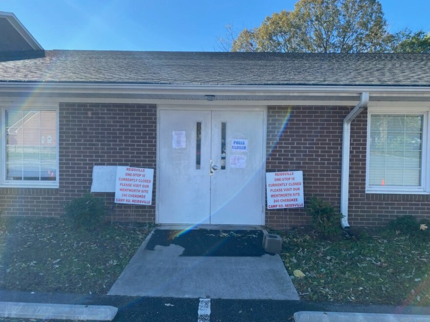 A Reidsville early-voting site has been shutdown in advance of the election.