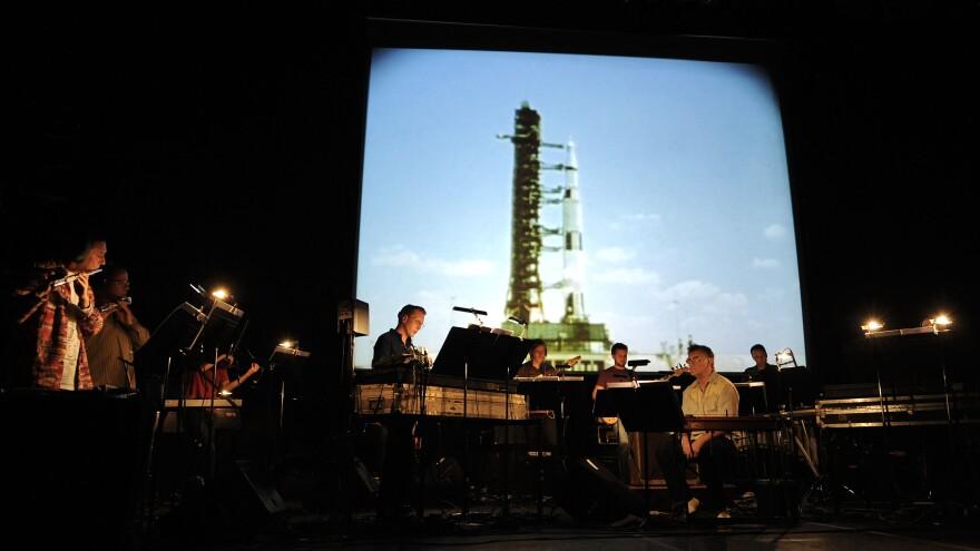 The ensemble Icebreaker, performing Brian Eno's album <em>Apollo: Atmospheres & Soundtracks</em> alongside pedal steel pioneer B.J. Cole on Sep. 15, 2010 in London.