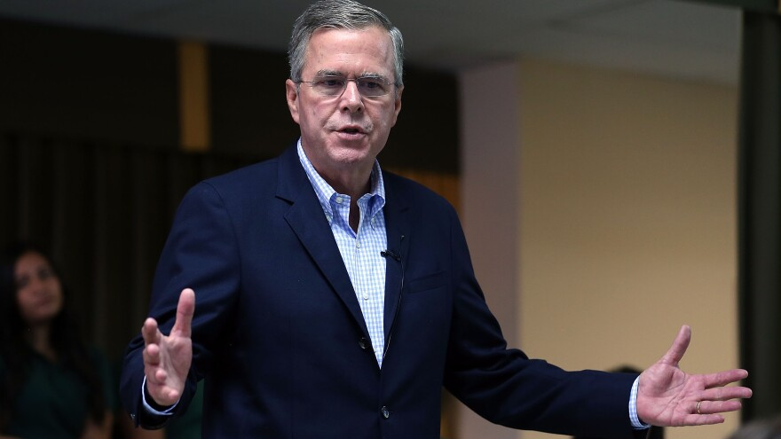 Jeb Bush unveiled his energy plan Tuesday, calling for less regulation on fracking and carbon emissions.