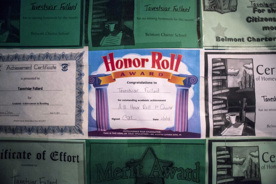 Honor roll certificates and achievement awards now line the bedroom walls of 11-year-old Tavestsiar Fullard.