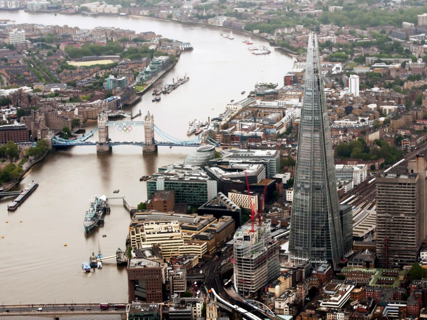 """The Shard, the tallest building in Western Europe at 1,016 feet, was inaugurated in London in 2012. It got its formal name when the builders adopted the term used by critics, who called it a """"shard of glass"""" in the city's skyline."""