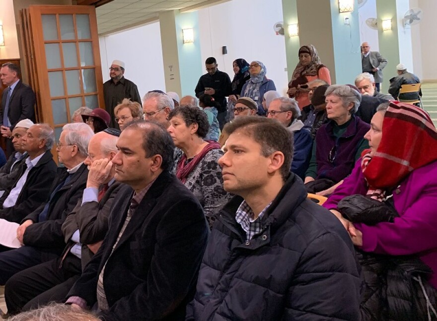 People of many faiths gathered at the Daar Ul-Islam Mosque in Manchester on Friday, to mourn and pray for those affected by the mass shooting in New Zealand on Friday, March 15.