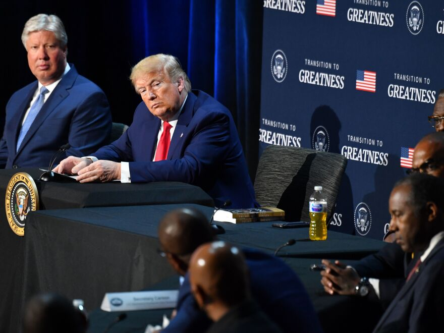 President Trump hosts a roundtable with faith leaders, law enforcement officials, and small business owners at Gateway Church in Dallas, Texas, on June 11, 2020.