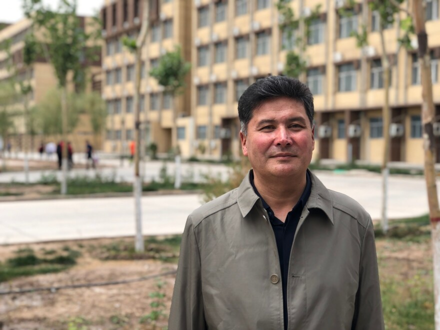 "Mejit Mahmut is the principal of the Kashgar Vocational Education and Training Center, a facility with 1,500 residents, most of them Uighur. ""People here have been infected by extremist thoughts,"" he says. ""The government wants to save and educate them, converting them here at this center."""