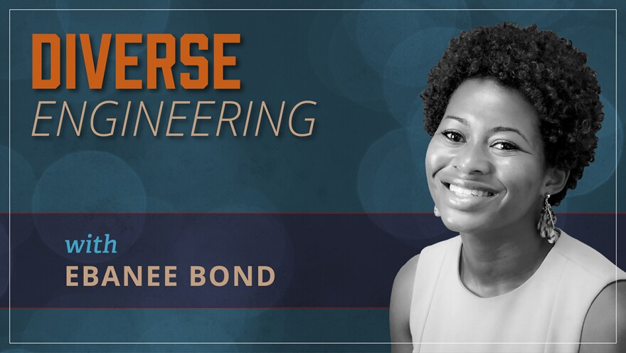"""The new University of Akron podcast, hosted by mechanical engineering graduate Ebanee Bond, begins with the episode """"Rise of the Black Engineer in Akron."""""""