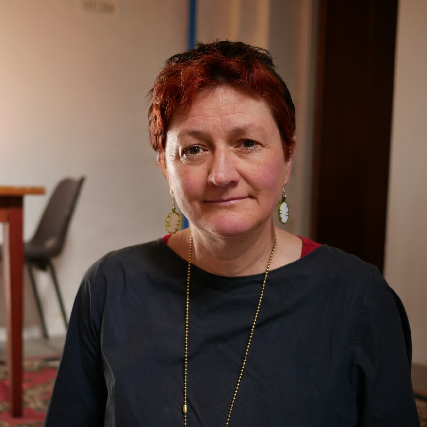 Jenny Blackmore bought a three-bedroom house in the center of town for refugees to live in.