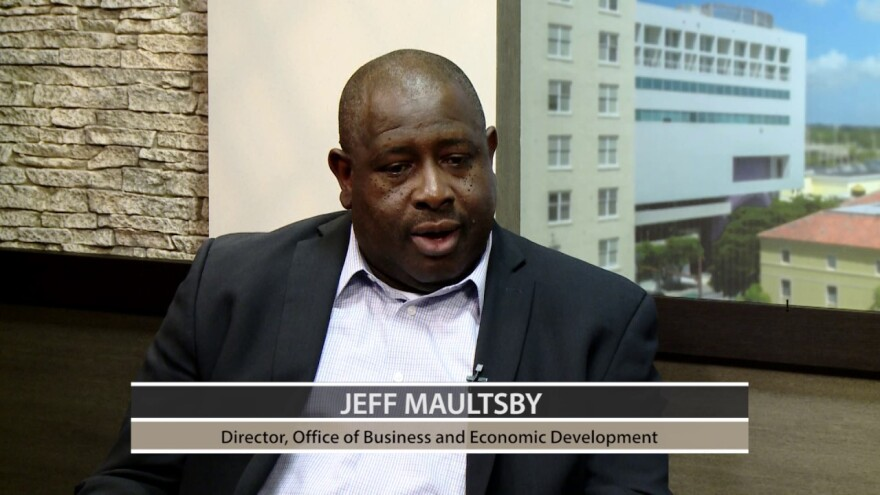 Sarasota County School COO Jeff Maultsby, seen in a 2017 video when he was with the county 's Office of Business and Development, resigned Tuesday after being accused of sexual harassment