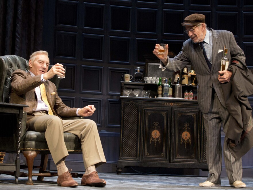 In <em>No Man's Land</em>, Stewart and McKellen swap <em>Godot's</em> wasteland for one of London's most expensive districts, playing the aging poets Hirst and Spooner.