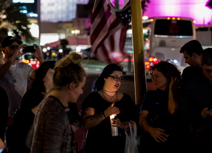 Photo of women at vigil.
